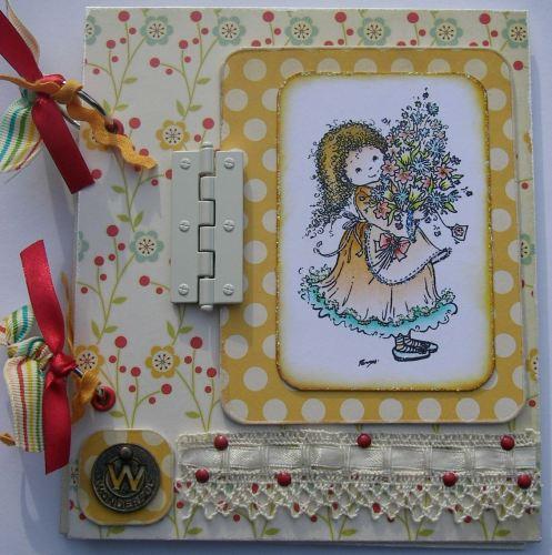 *wonderful* OOAK Handmade Floral Scrapbook Photo Album