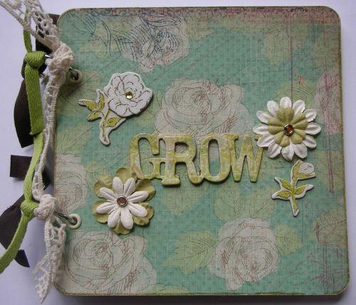 *grow* OOAK Handmade Garden Scrapbook Photo Album Journal