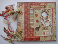 *autumn leaves* Handmade Scrapbook Album Journal