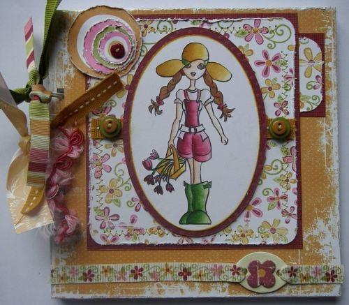 *lady gardener* garden scrapbook photo album