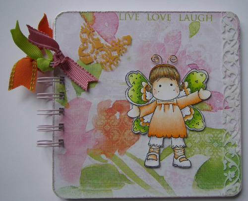 *live love laugh* OOAK Handmade Butterfly Scrapbook Album