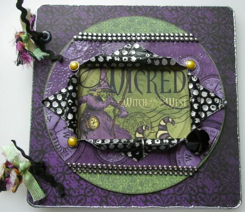 *wicked witch of the west* Handmade Halloween Scrapbook Photo Album