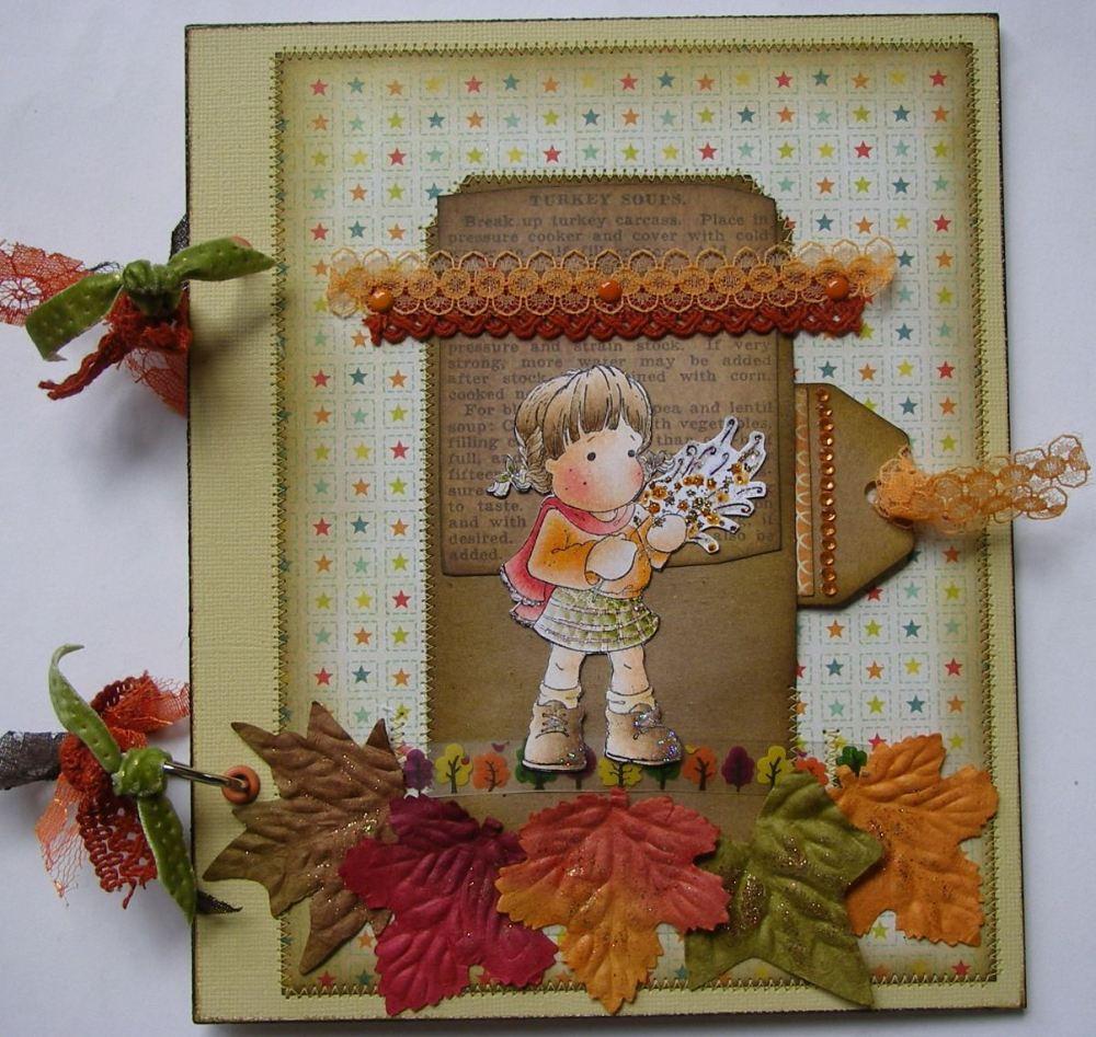 *fireworks* OOAK Handmade Autumn Bonfire Night Scrapbook Memory Album