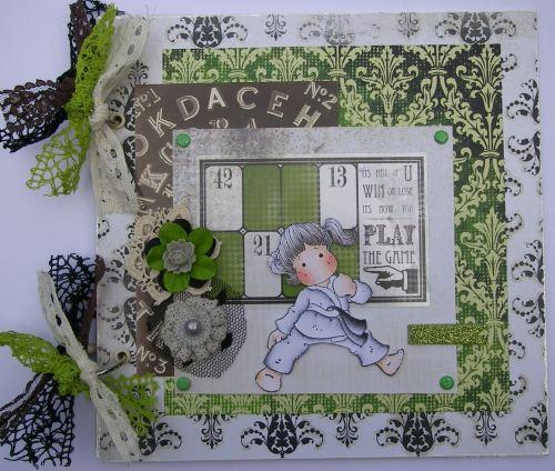 *win or lose* OOAK Handmade Karate Sports Scrapbook Photo Memory Album