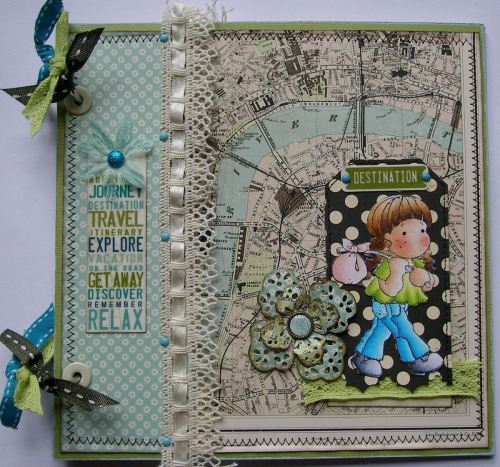 *destination London*OOAK Handmade Travel/Holiday Scrapbook Photo Album