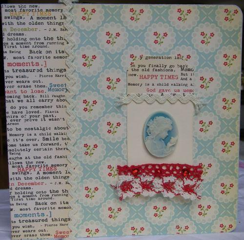 *happy times* OOAK Handmade Ring Binder Scrapbook Photo Memory Album