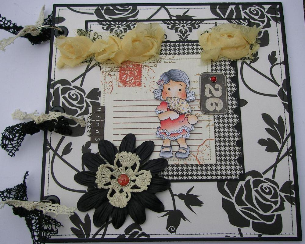 *spain* OOAK Handmade Spanish Holiday Scrapbook Photo Memory Album