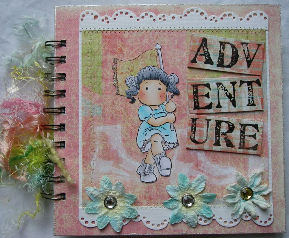 *adventure* OOAK Handmade Travel Scrapbook Photo Memory Album