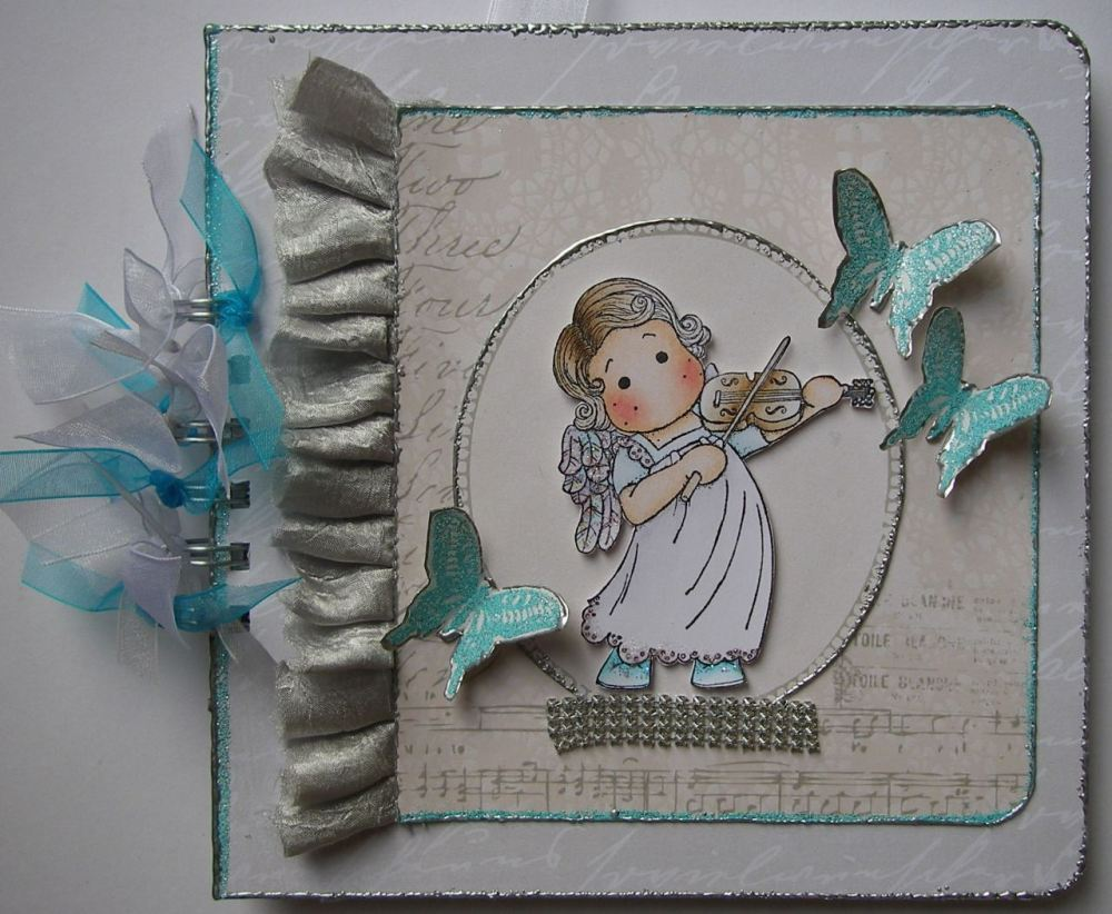 *let the music play on* OOAK Handmade Scrapbook Photo Memory Album