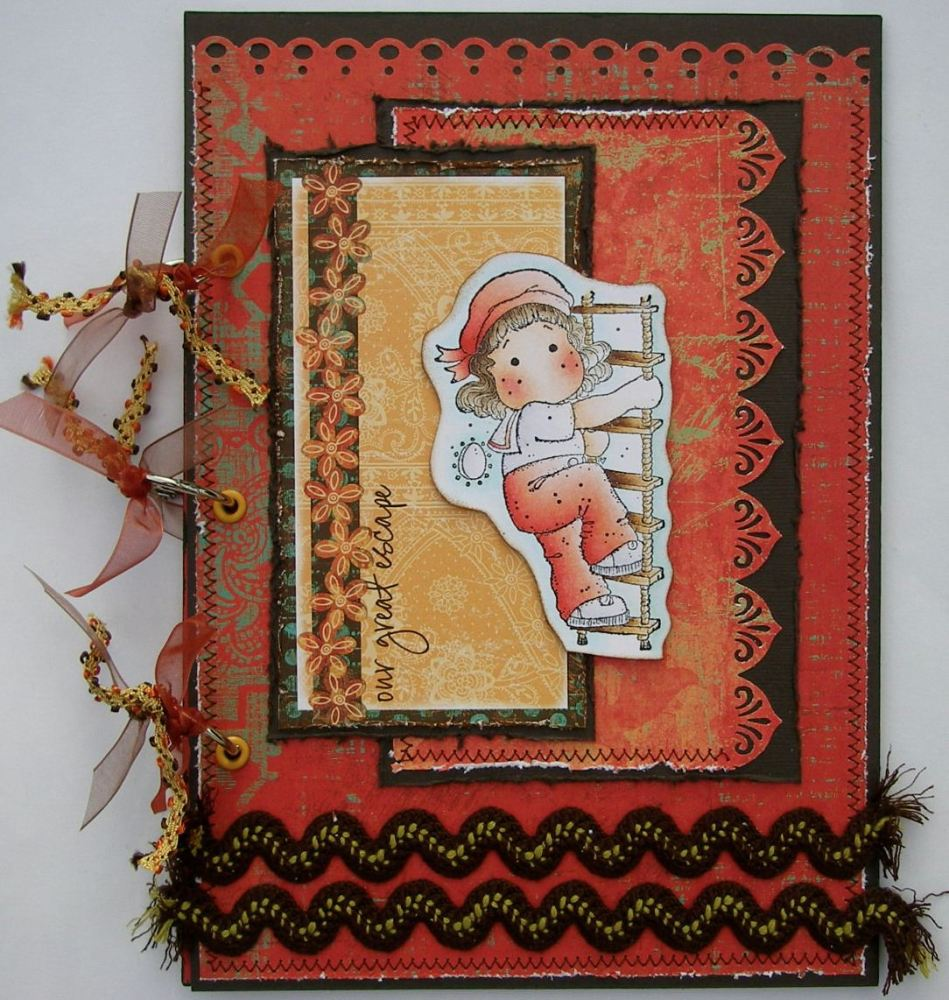 *our great escape* OOAK Handmade Travel Holiday Scrapbook Photo Album