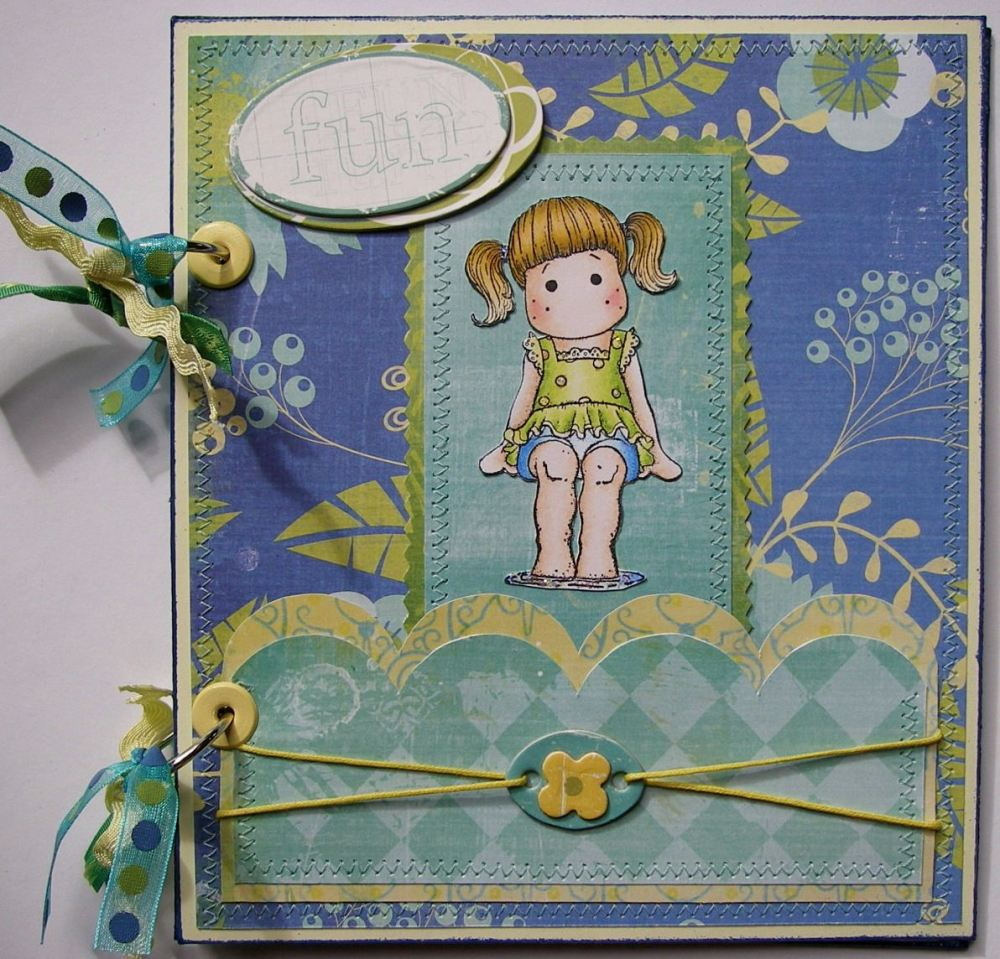 *fun in the sun* OOAK Handmade Holiday Scrapbook Album