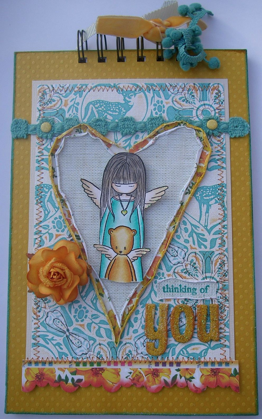 *thinking of you* Handmade Memory Scrapbook Album