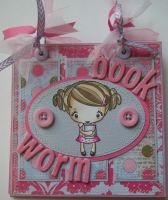 *book worm* OOAK Handmade Scrapbook Photo Album Journal