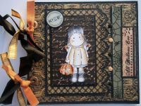 *all Hallows eve* OOAK Handmade Halloween Scrapbook Album
