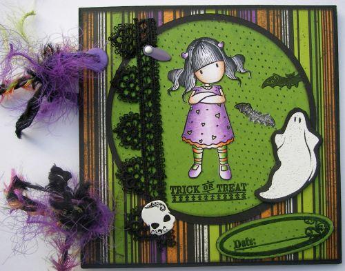*trick or treat* OOAK Handmade Halloween Scrapbook Photo Album