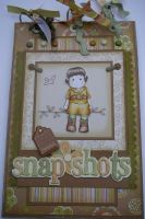 *vacation snapshots* OOAK Handmade Scrapbook Album