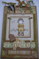 *vacation snapshots* OOAK Handmade Scrapbook Album