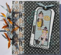 *little pumpkins* OOAK Handmade Halloween Scrapbook Photo Memory Album
