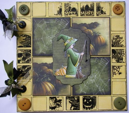 *happy haunting* OOAK Handmade Witch's Halloween Scrapbook Photo Album