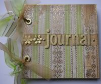 *golden journal* OOAK Handmade Journal Notebook