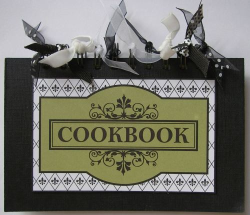 *cookbook* OOAK Handmade Mini Spiral Bound Recipe Scrapbook Album