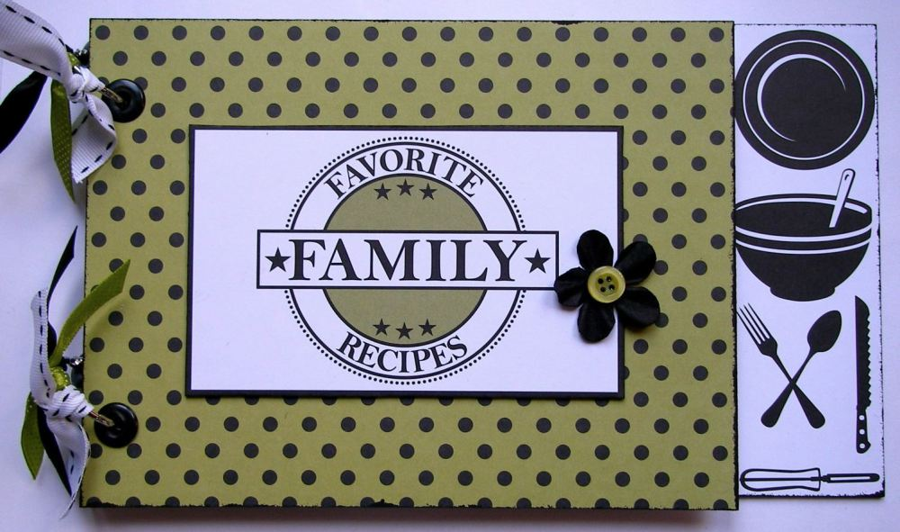 *favorite family recipes* OOAK Handmade Recipe Scrapbook Album