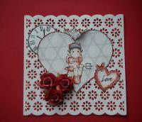 *old devil called love* OOAK Handmade Anniversary/Valentine Scrapbook Photo Album