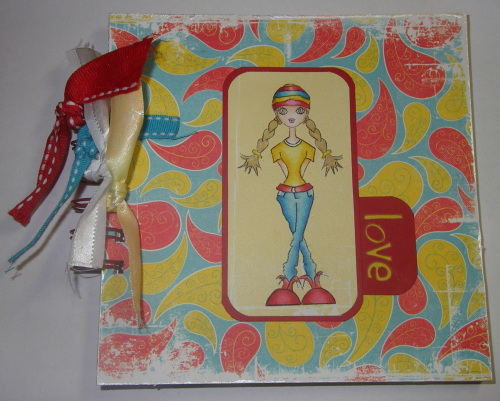 *love* OOAK Handmade Anniversary/Valentine Scrapbook Album