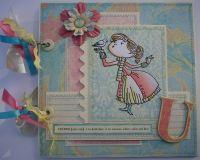 *cherish U* OOAK Handmade Anniversary/Valentine Scrapbook Album
