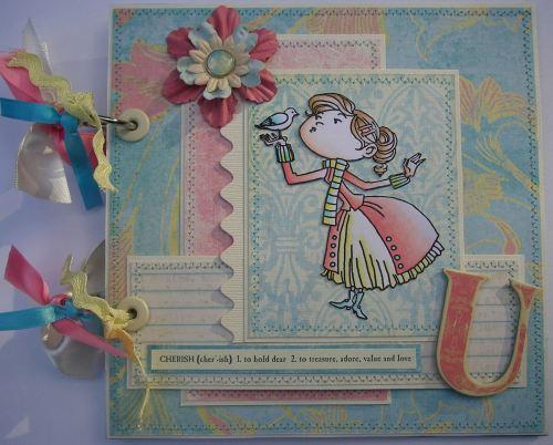 Ooak handmade valentine wedding anniversary scrapbook