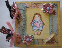 *be mine* OOAK Handmade Valentine Scrapbook Album
