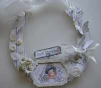 *just married* OOAK Handmade Wedding Horseshoe