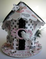 *love bird* OOAK Handmade Vintage Keepsake Bird House Box
