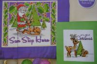 Santa Stop Here Sign & Christmas Card ~ Two Cross Stitch Charts