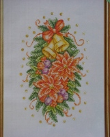 Poinsettia Christmas Arrangement ~ Cross Stitch Chart