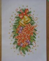 Poinsettia Christmas Arrangement ~ Cross Stitch Chart