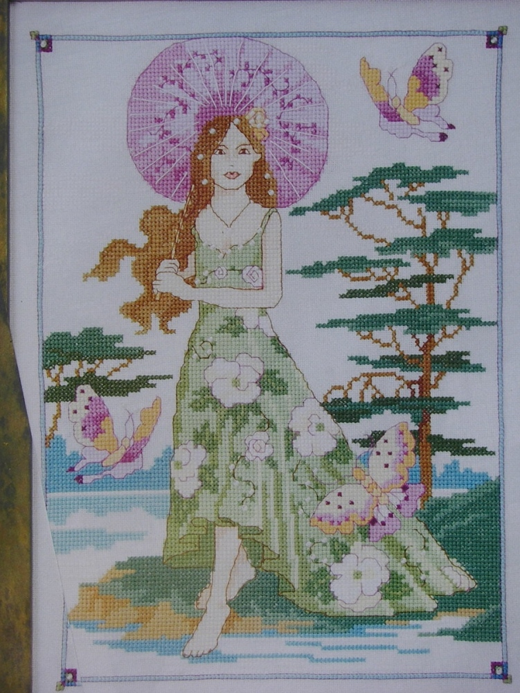 Lady in a Japanese Garden ~ Cross Stitch Chart