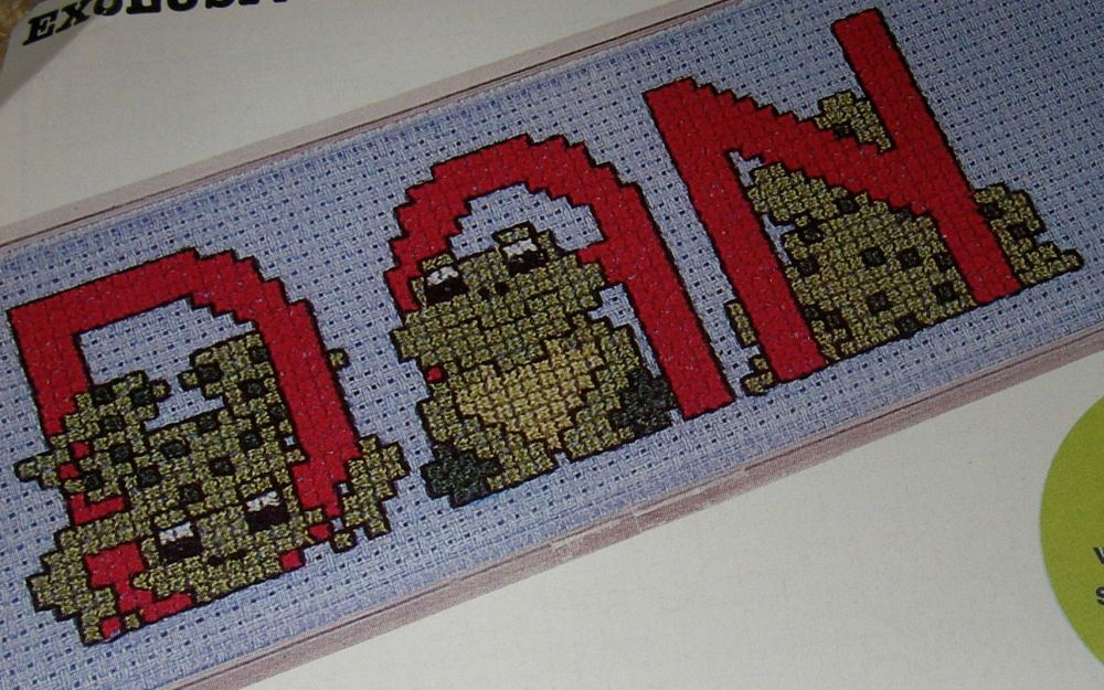 Frog ABC Alphabet ~ 26 Cross Stitch Charts