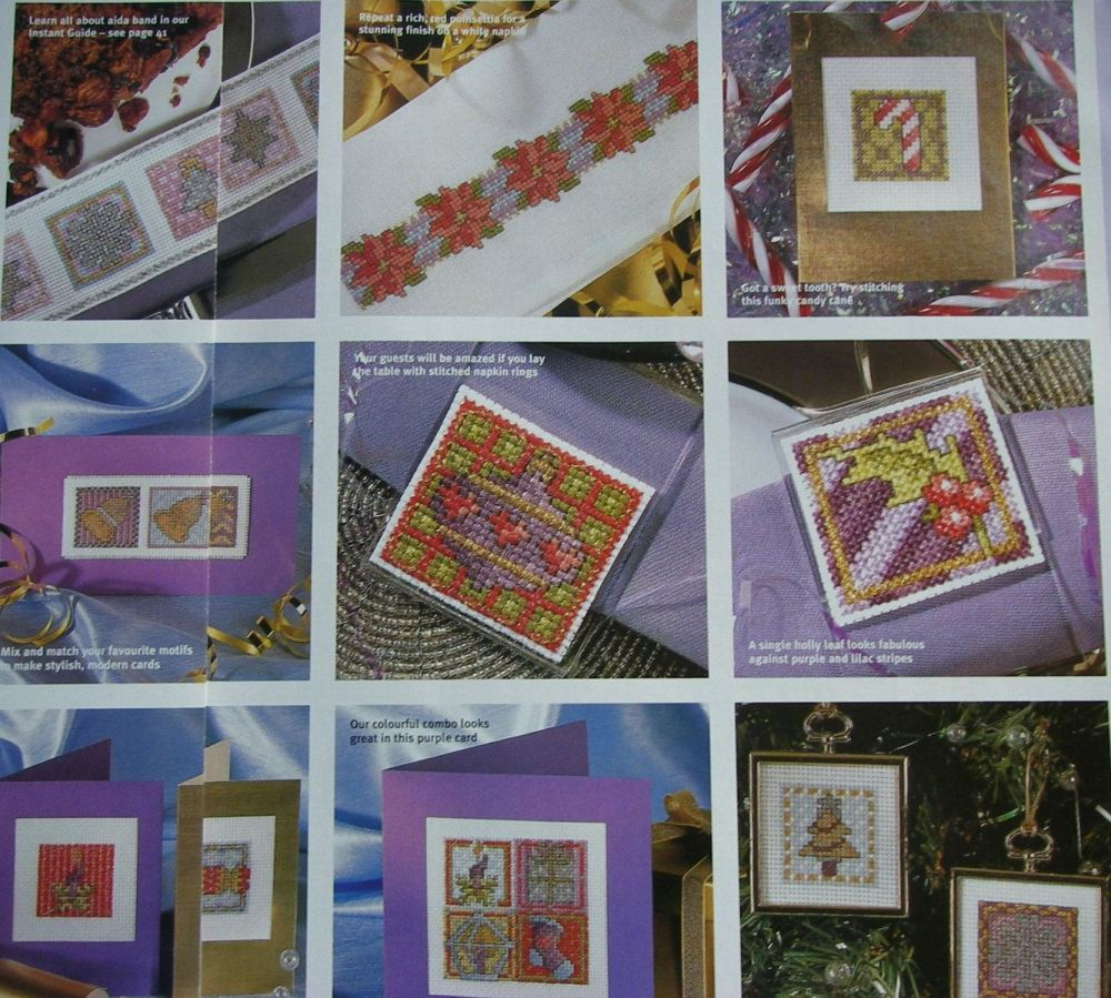 50 Sparkling Christmas Cards/Tags ~ Cross Stitch Charts