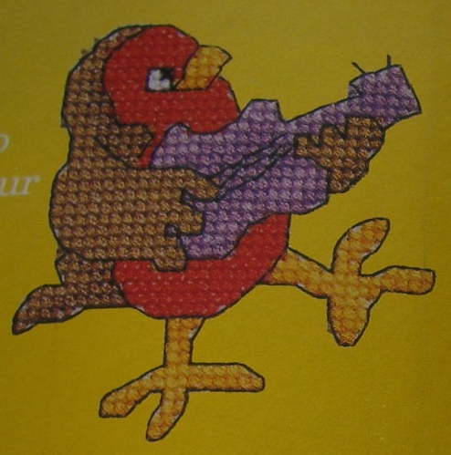 10 Musical Robins ~ Cross Stitch Charts