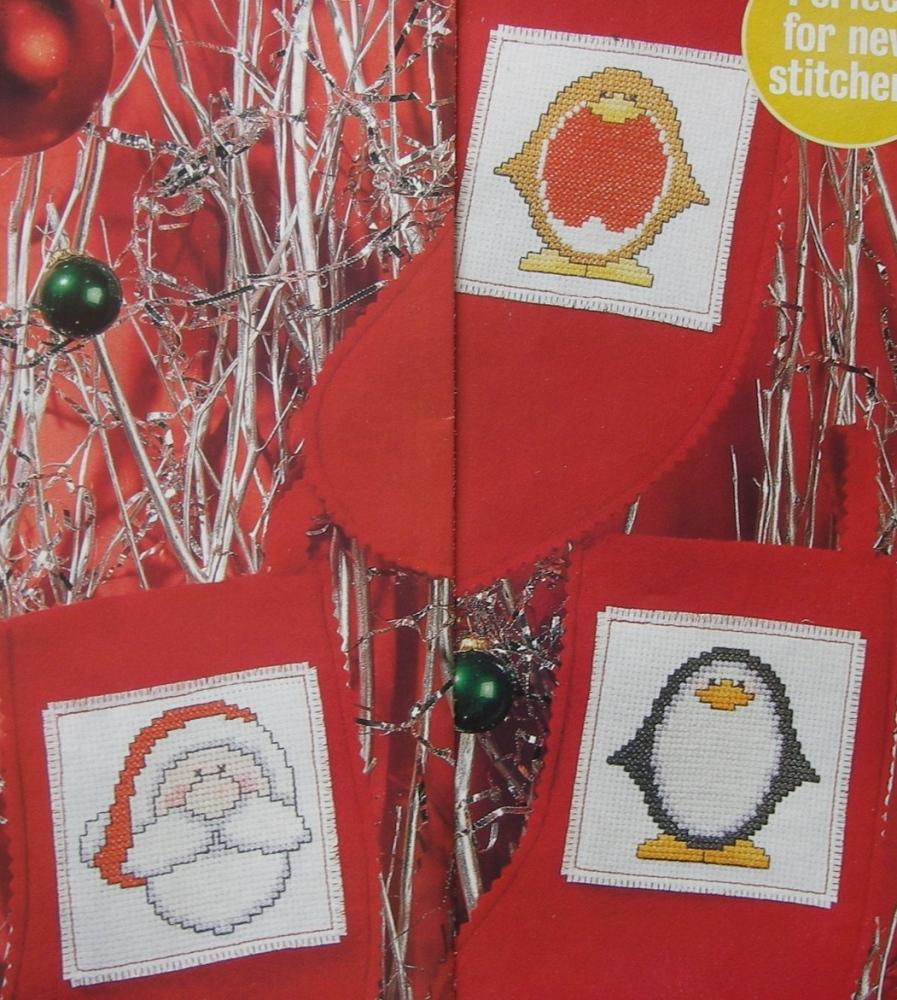 Penguin & Santa Christmas Cards ~ Cross Stitch Charts