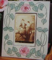 Art Nouveau Floral Picture Frame ~ Needlepoint Pattern