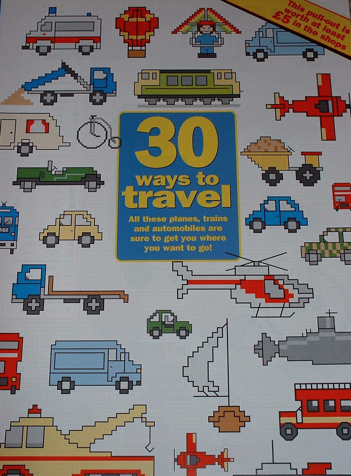 30 Transport Designs ~ Cross Stitch Charts