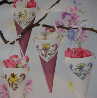 Wedding Day Confetti Cones ~ Cross Stitch Charts