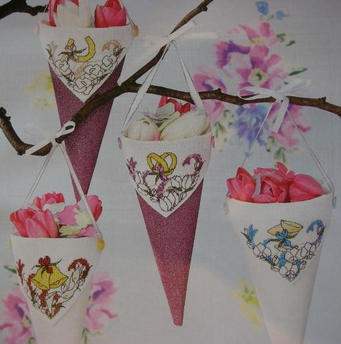 Wedding Day Confetti Cones ~ Cross Stitch Charts