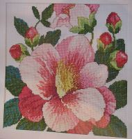 Camellia Flower Floral Display ~ Cross Stitch Chart