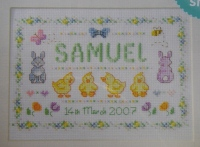 Newborn Baby Sampler ~ Cross Stitch Chart