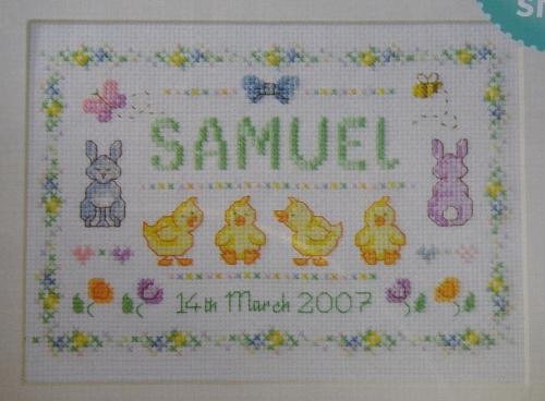 Newborn Baby Sampler ~ Cross Stitch Chart