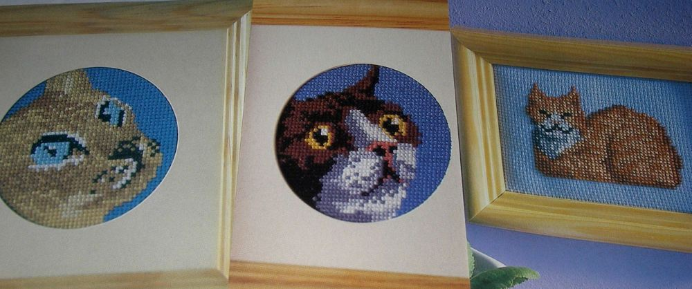Six Cat Cards ~ Cross Sttich Charts