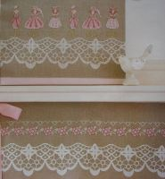 Mannequin border and Floral Border ~ Cross Stitch Charts